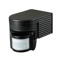 Bewegungsmelder Aufputz 180° für Innen und Außen LED IP44 Schwarz bis 12m ST08