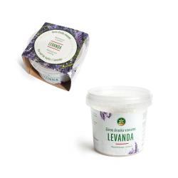 Saunasalz Badesalz Meersalz mit Lavendelöl Körperpeeling Saunapeeling Salz 350g