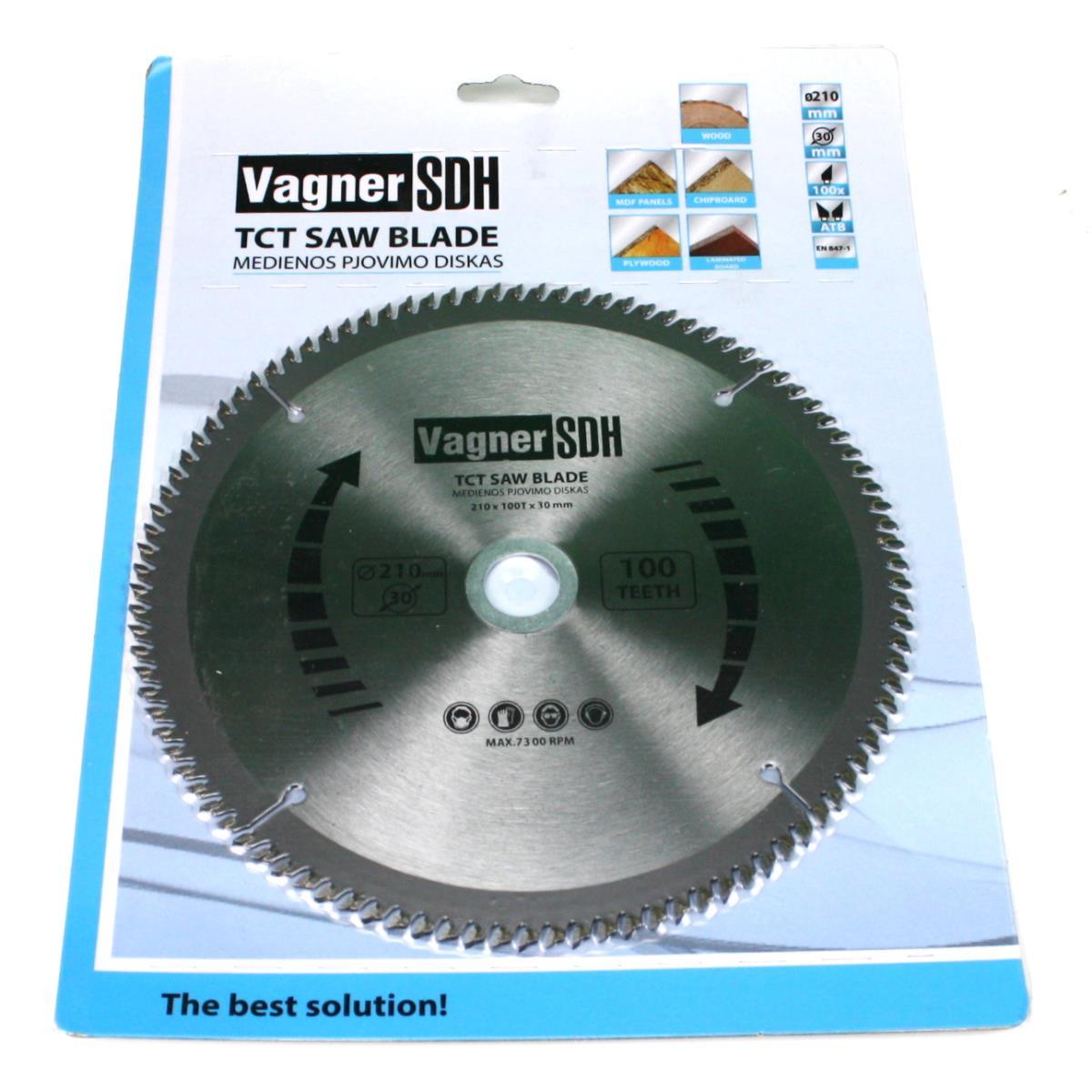 Sägeblatt 210mm Kreissägeblatt für Holz, 100 Zähne, Innen 30-20mm,Vagner SDH,51005397, 6941125230580