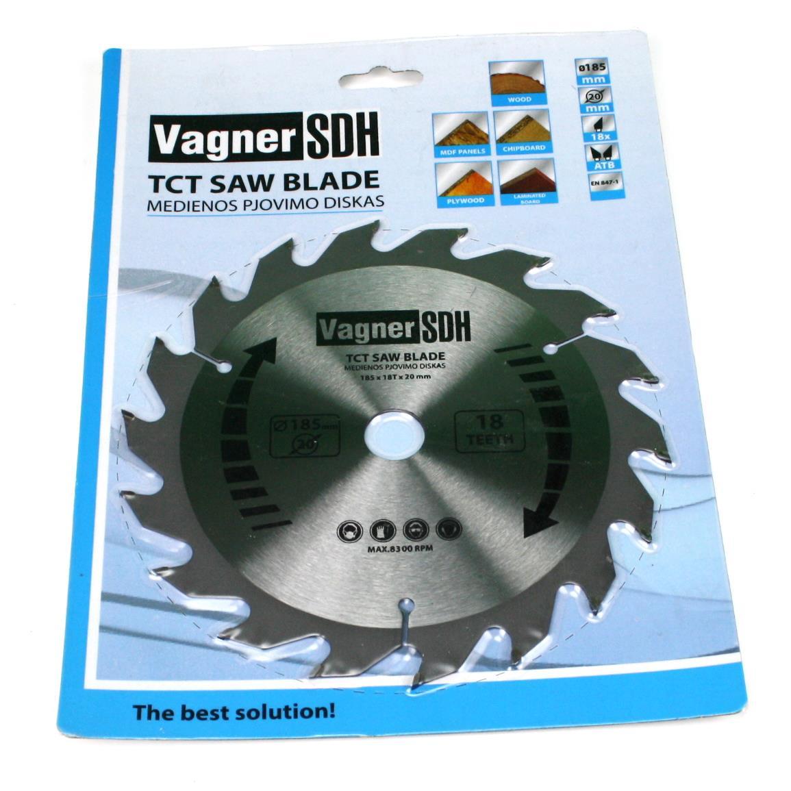 Sägeblatt 185mm Kreissägeblatt für Holz, 18 Zähne, Innen 20mm,Vagner SDH,51063988, 6941125231525