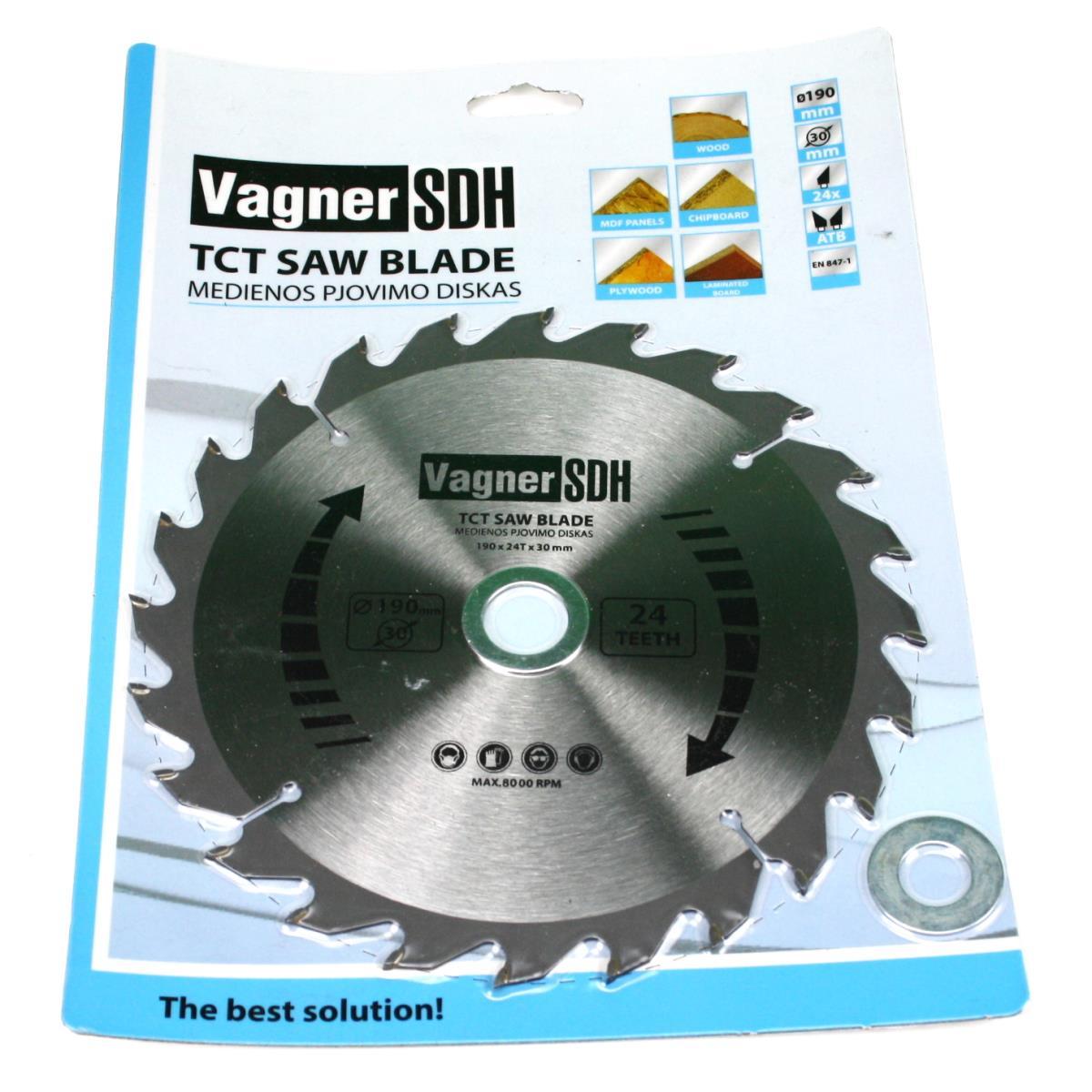 Sägeblatt 190mm Kreissägeblatt für Holz, 24 Zähne, Innen 30-20-16mm,Vagner SDH,51005296, 6941125230344