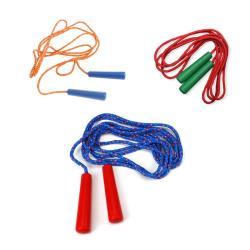 Springseil Sprungseil Seilspringen Hüpfseil Skipping Rope 2,5 m SORTIERT