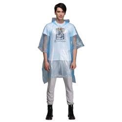 Einweg Regenschutz mit Kapuze Wasserdicht Regenmantel Regenumhang  XXXL