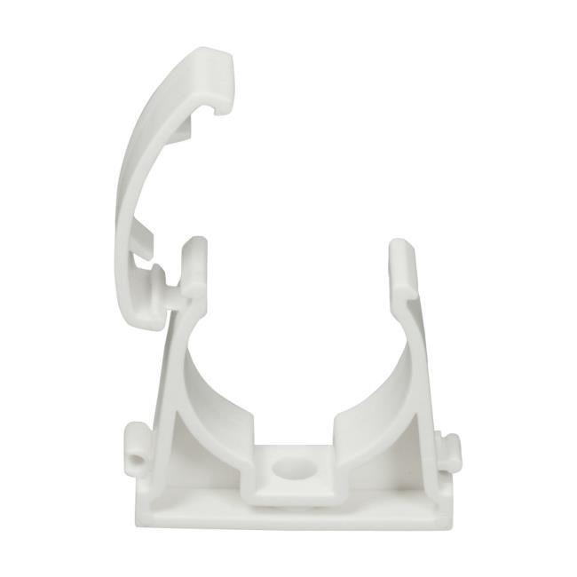 5 Rohrclips Einfach Weiß 20mm Rohrbefestigung Rohrschelle Rohrhalter Clip,AKS Zielonka,UZU20, 5904617572941