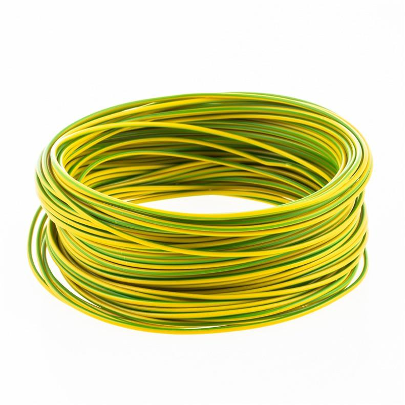 25m Litze 0,5mm² Kabel Einzelader Verdrahtung flexibel H05V-K Grün/Gelb,Lietkabelis,H05V-K Grün/Gelb, 4779016549020