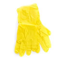 12 Paar Latex Handschuhe Gelb Haushaltshandschuhe Putzhandschuhe Handschuhe Gr.M