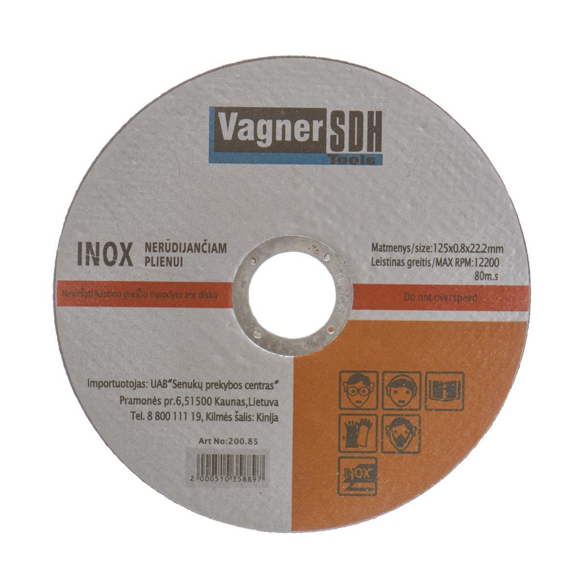 Trennscheiben 10 Stk. ø125 x 0,8mm INOX für Edelstaht Metall Stahl Flexscheiben,Vagner SDH,2100510358894, 2100510358894