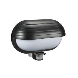 Wandleuchte E27 mit Bewegungsmelder IP44 Schwarz Wandlampe ST69