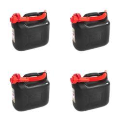 4 x Reservekanister Kanister Benzinkanister Ölkanister Kraftstoffkanister 5 L