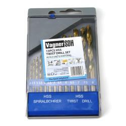 Metalbohrer Bohrer Set 13-tlg. HSS Bohrer Satz Spiralbohrer für Metal Ø 2 - 8 mm,Vagner SDH,2000510550567, 2000510550567