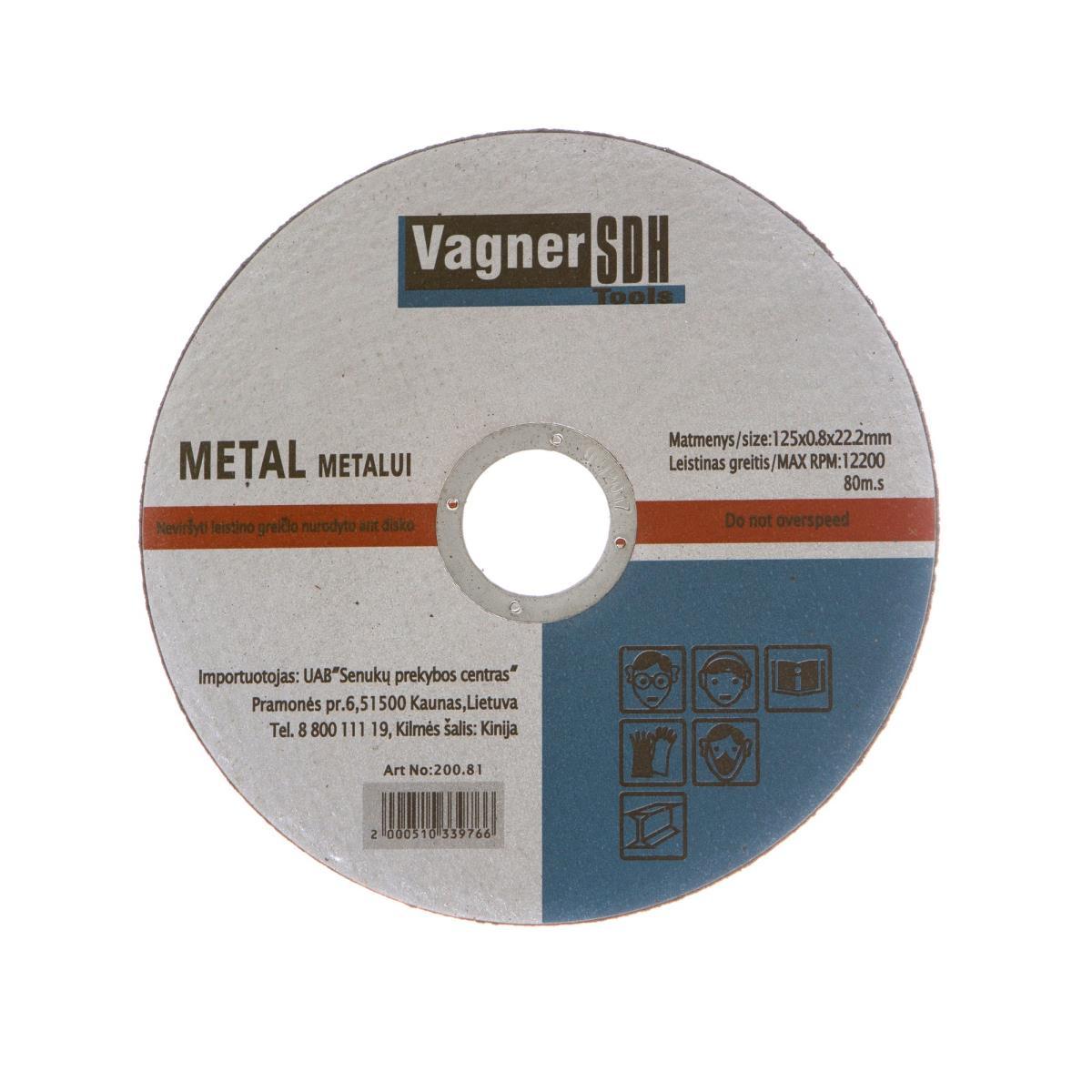 Trennscheiben 50 Stk. ø125 x 0,8mm für Metall Stahl Flexscheiben,Vagner SDH,2100510339763, 4243067013293