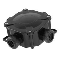 Abzweigdose Verteilerdose IP67 schwarz 75x75x33 Aufputz Verbindungsdose,Pawbol,A.0035C, 5901350823125