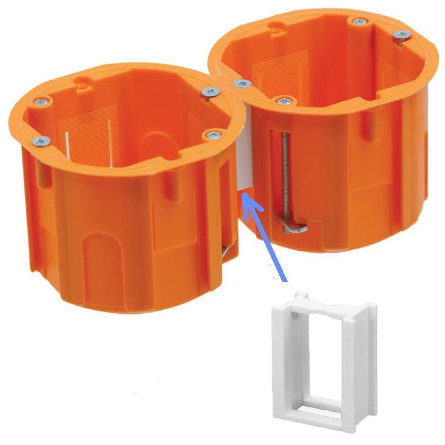 Schalterdosen mit Wasserwaage Bohrschablone für Hohlwanddosen
