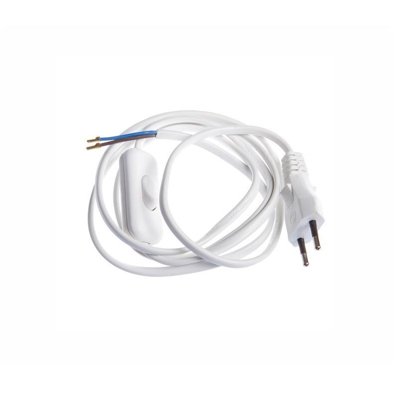 Netzkabel 3m Eurostecker mit Schnurschalter und offenes Ende Stromkabel,OKKO,KF-DS-5-3, 4772013041009
