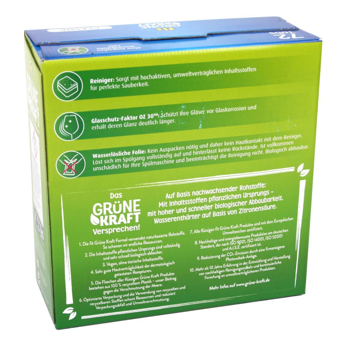 FIT Grüne Kraft Classic 288 Tabs Spülmaschinentabs Geschirrspültabs,Fit,4013162016280, 4243067014955
