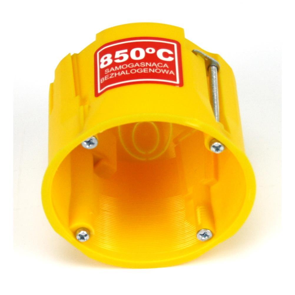12x Hohlwanddose Abzweigdose Hohlraumdose halogenfrei Ø60x60mm gelb,Elektro-Plast,0220-0N, 4243067015570