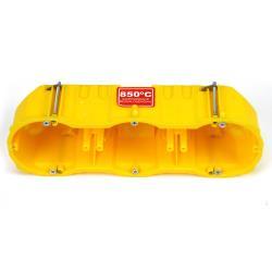 6x Hohlwanddose 3-fach Abzweigdose Hohlraumdose halogenfrei Ø60x60mm, gelb,Elektro-Plast,0287-0N, 4243067015587