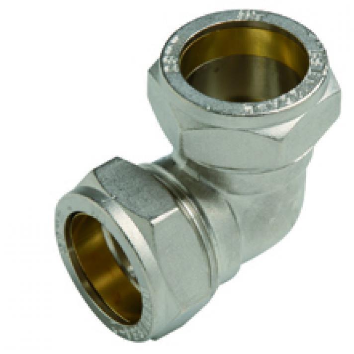 Messing Klemmverschraubung für Kupferrohr, Winkel 90° Ø22,M T,6604-022, 8435319106907