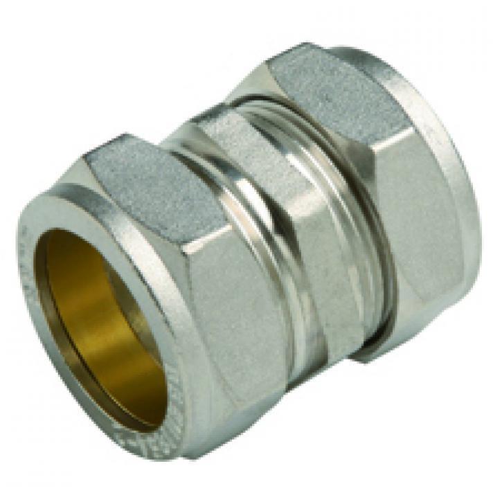 Messing Klemmverschraubung für Kupferrohr, Kupplung reduziert Ø28 x Ø22,M T,6601-02822, 8435319106624