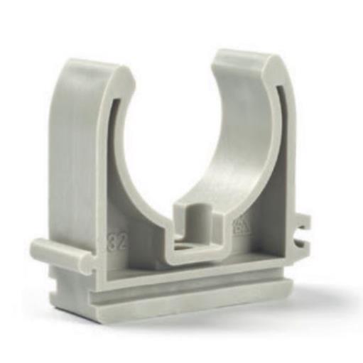 50 x Rohrclip Ø 32 mm Rohrklemme Rohrhalter Clipser Rohrschelle Klemmschelle ,chud,10032P, 8595587400043