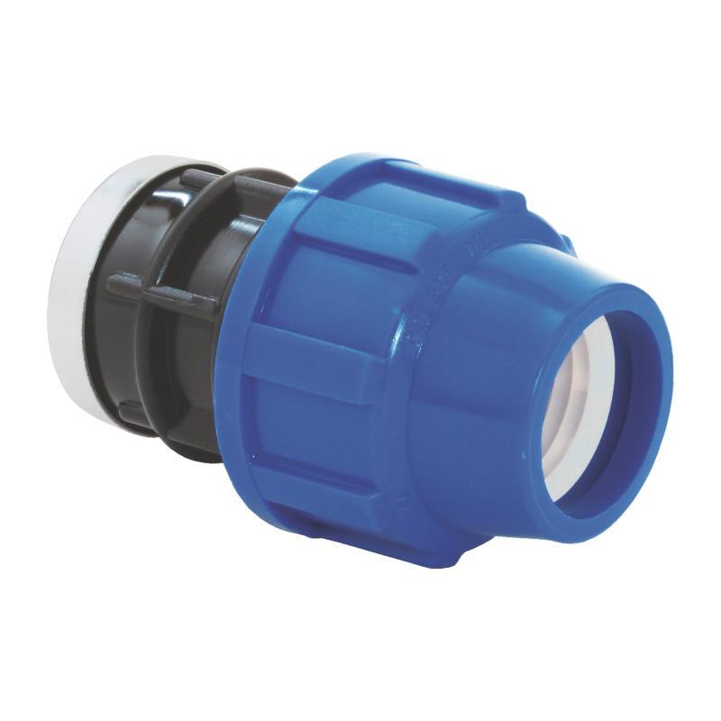 """PP Rohr Verschraubung Blau PN16 Klemmfitting DVGW,  Kupplung 25 x IG 1"""",Diverse,02021090, 5996361009507"""