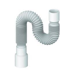 Spülen Siphon Sifon flexibler Ablaufschlauch 40x40/50 Länge 300-800 mm
