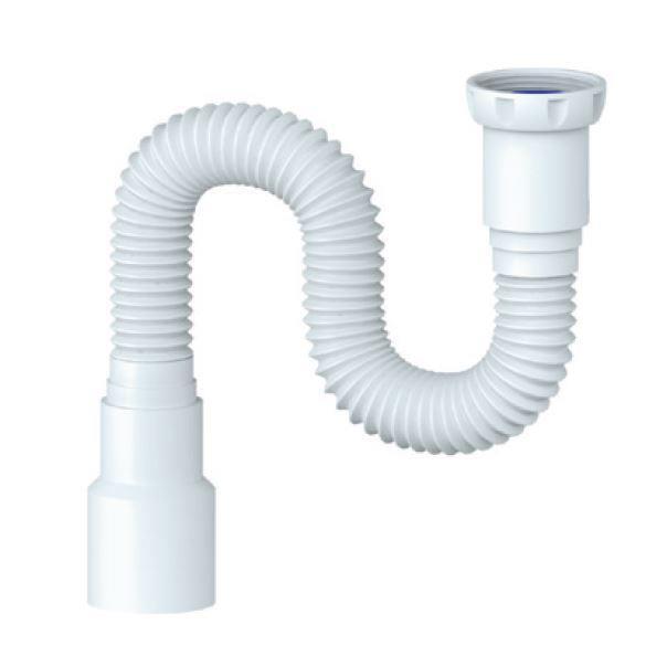 """Spülen Siphon Sifon flexibler Ablaufschlauch 6/4"""" - 40/50 Länge 370-1200 mm,chud,D 125, 8595587421659"""