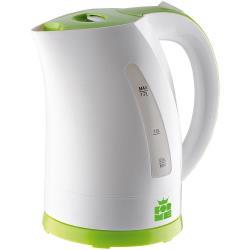 ForMe Wasserkocher 1.7 Liter 2200W, Kabellos 360° drehbar, Farbe weiß/grün