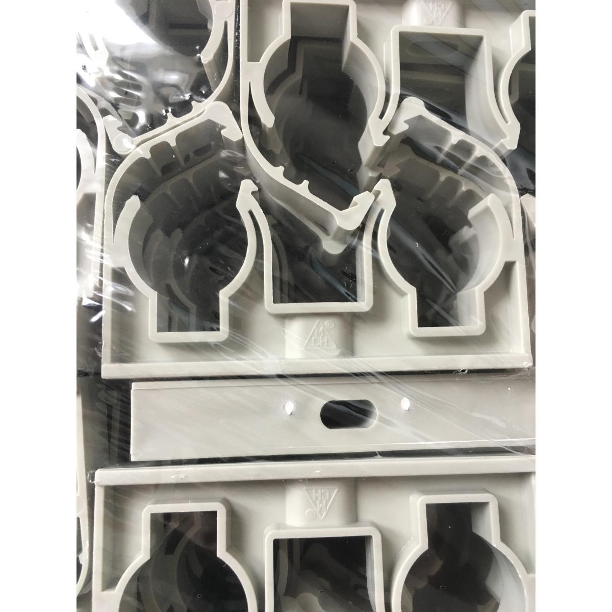 150 x Rohrclips doppelt  2 x 25 mm Rohrbefestigung Rohrschelle Rohrhalter Clip