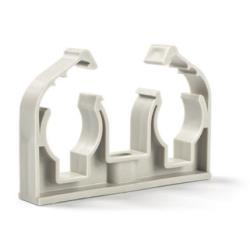 50 x Rohrclips doppelt  2 x 25 mm Rohrbefestigung Rohrschelle Rohrhalter Clip