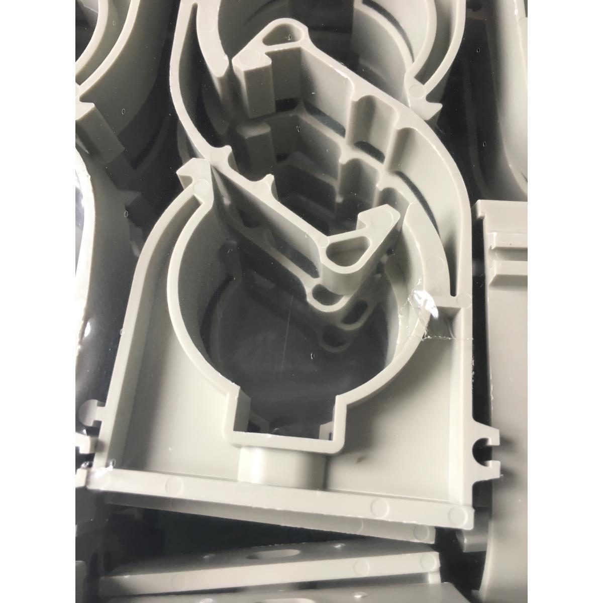 50 x Rohrclips Einfach 40mm Rohrbefestigung Rohrschelle Rohrhalter Clip,chud,1K040P, 8595587405093