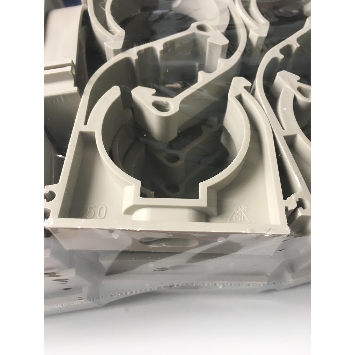 25 x Rohrclips Einfach 50mm Rohrbefestigung Rohrschelle Rohrhalter Clip,chud,1K050P, 8595587405109