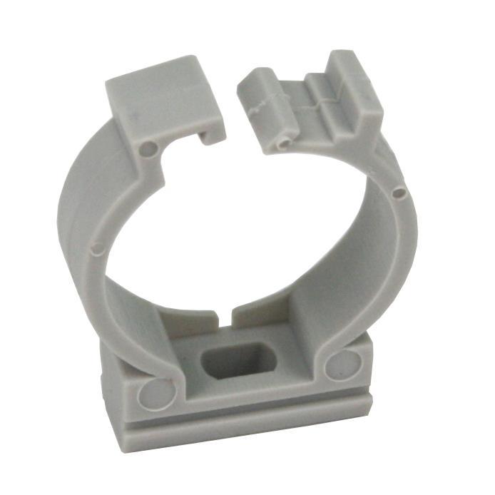 100x Rohrclip Grau 20mm Rohrbefestigung Rohrschelle Rohrhalter mit Verschluss,Pawbol,CLU20, 0676424768385