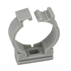 100x Rohrclip Grau 20mm Rohrbefestigung Rohrschelle Rohrhalter mit Verschluss