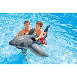 Aufblastier Weißer Hai Reittier Badetier Schwimmtier Fisch Wasserspielzeug