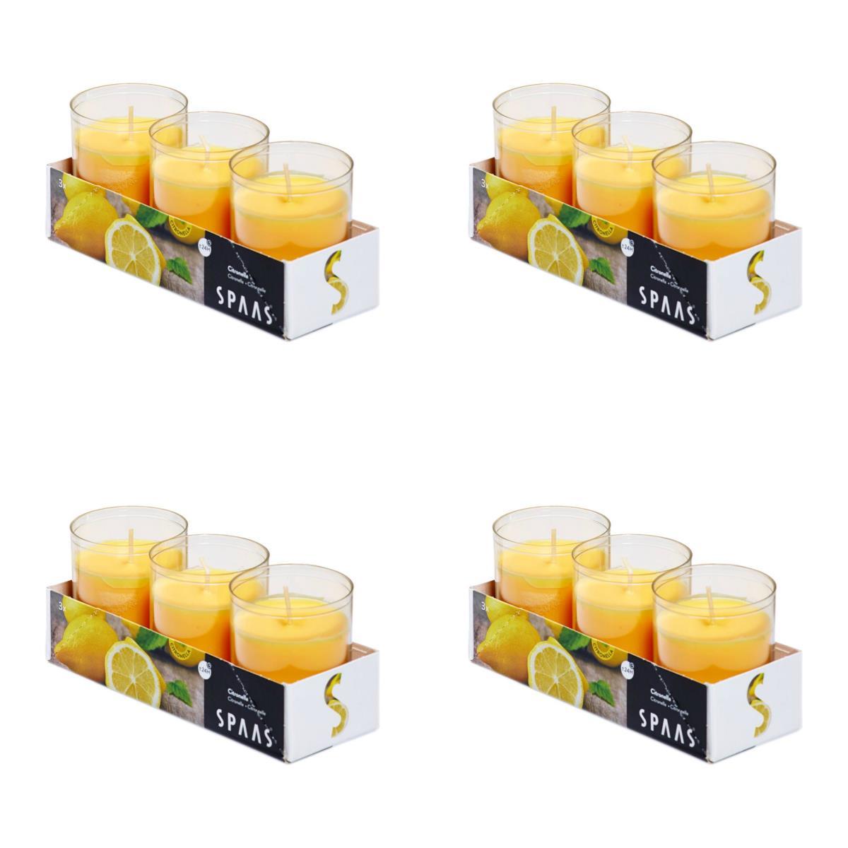 4 x Citronella Duftlichter Anti Mücken Kerzen Teelichter Outdoor Mückenabwehr ,Spaas,000051332867, 0676424768927