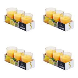 4 x Citronella Duftlichter Anti Mücken Kerzen Teelichter Outdoor Mückenabwehr