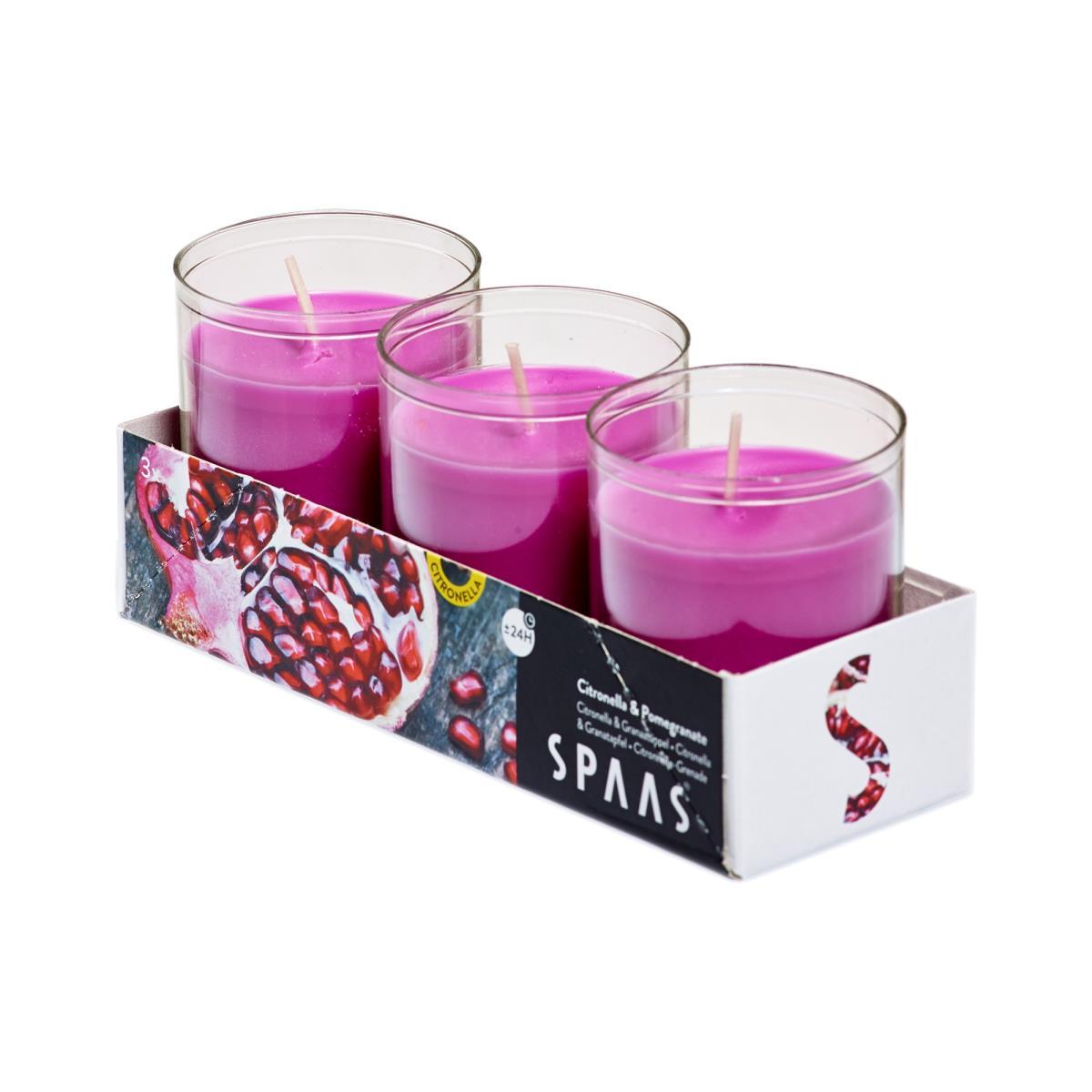 4 x Citronella Granatapfel Duftlichter Mücken Kerzen Teelichter Mückenabwehr ,Spaas,000051332861, 0676424769009