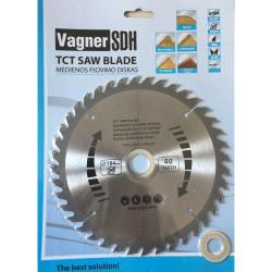 Sägeblatt 184 mm Kreissägeblatt für Holz 40 Zähne  Innen Ø 16 - 20 - 30 mm,Vagner SDH,000051005052, 6941125230313