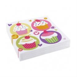 20 Servietten Papierservietten Cupcake Geburtstag Geburtstagsdeko Party Kinder