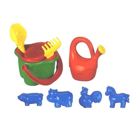 Sandspielzeug 9 tlg. Strandspielzeug Sandförmchen Sandformen Förmchen Spielzeug,HEMAR,5900992000826, 5900992000826