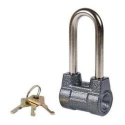 Vorhängeschloss 124/57mm Vorhangschloss Schloss mit 3 Schlüssel Sicherheit 3
