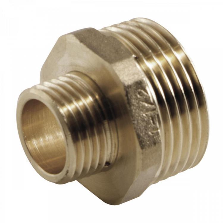 "Messing Fitting Gewindefitting, Doppelnippel reduziert AG 1/2"" x AG 3/8"",M T,8724501510, 8435319109564"