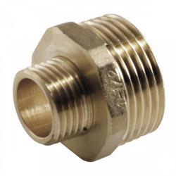 "Messing Fitting Gewindefitting, Doppelnippel reduziert AG 1/2"" x AG 1/4"",M T,8724501508, 8435319109557"