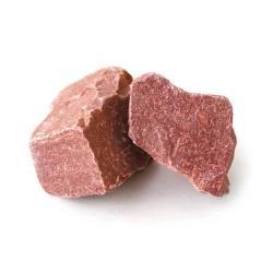 20 kg hochroter Quarzit Saunasteine 7-18cm Aufgusssteine Dampfsteine Ofensteine