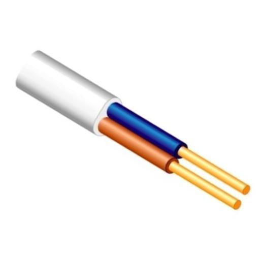 25m Flache Installationsleitung Kabel 2 x 2,5 mm YDYp flach weiß,Lietkabelis,BVV-P 2x2,5mm 25m, 4779016540713
