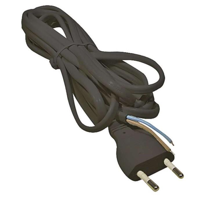 Eurostecker mit 2m Kabel Netzkabel Stromkabel offenes Kabelende,EMOS,8595025318619, 8595025318619