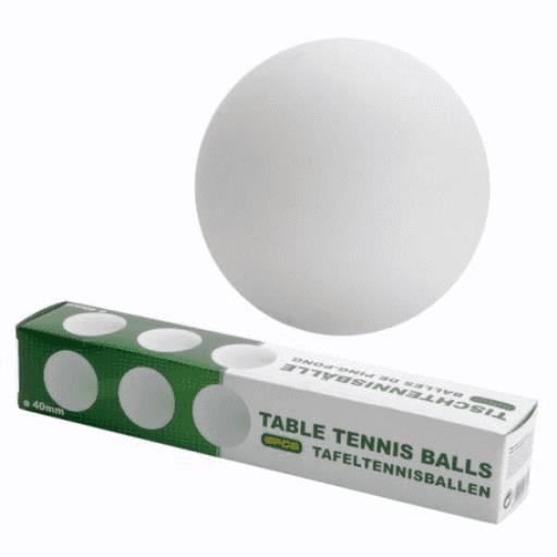 Tischtennisbälle 6er Set 40 mm TT-Bälle Tischtennis PingPong Bälle,Free & Easy,8718158278449, 8718158278449