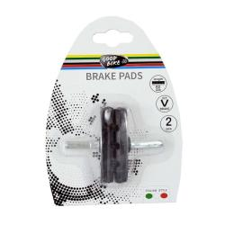 2x Fahrrad Bremsschuhe 70mm MTB Bremsbeläge V-Brake VBrake Bremsen Klötze