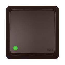 Aufputz Taster Licht  IP20 10A 230V Lichtschalter Dunkelbraun serie BERG
